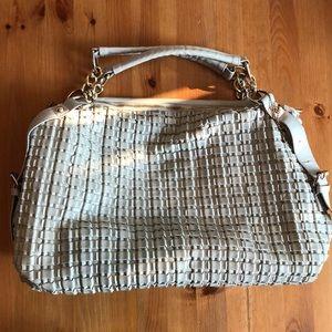 Big Buddha gray leather handbag